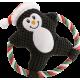 Jouet de Noël Sonore à Mâcher avec Corde et Peluche pour Chien
